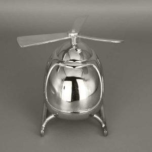 Daniel Cregut Cadeaux De Famille Tirelire Argent Helicoptere 3
