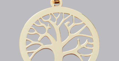 Medaille Or Arbre De Vie