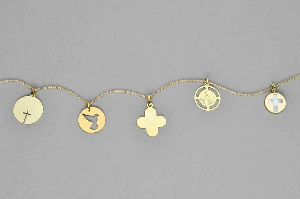 Medaille Bapteme Enfance Vierge Or