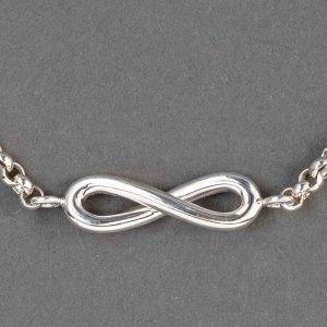 Bracelet En Argent Massif Symbole Infini
