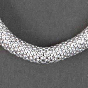 Bracelet Tisse Argent Massif Elastique