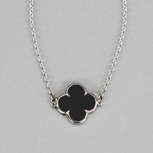 Bracelet 1 Fleur Onyx Argent Massif2