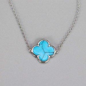 Bracelet 1 Fleur Turquoise Argent Massif2
