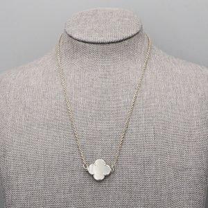 Collier 1 Fleur Nacre Argent Massif 2