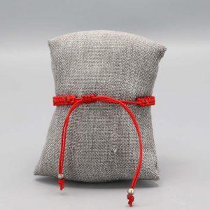 Aubry Cadoret Bracelet Argent Massif Fil Nylon Tresse Rouge 2